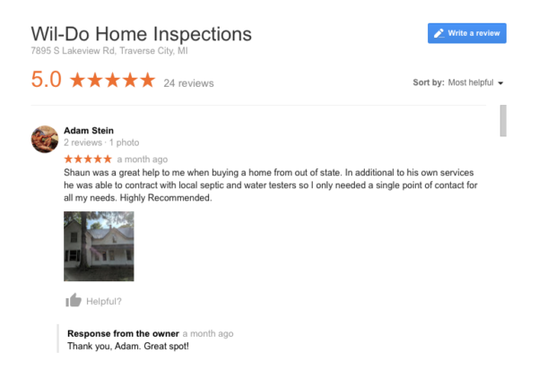 best home inspection traverse city
